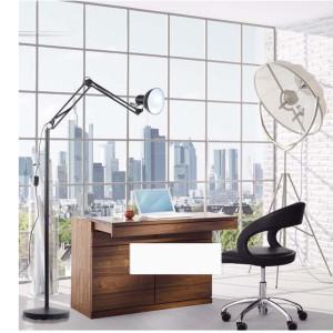 Americano-lampada-da-terra-lampada-da-ufficio-regolabile-foyer-piano-luce-con-lampada-clip-rosso-nero